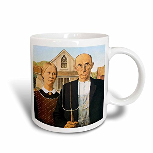 3dRose-BLN-Assorted-Works-Of-Fine-Art-Collection-American-Gothic-by-Grant-Wood-Mugs