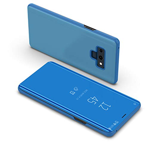Grape Border Flat - Galaxy Note 9 Case, Buybuybuy Luxury Smart Sleep Wake UP Flip Leather Stand Holder Case Cover for Samsung Galaxy NOTE 9 (Blue)