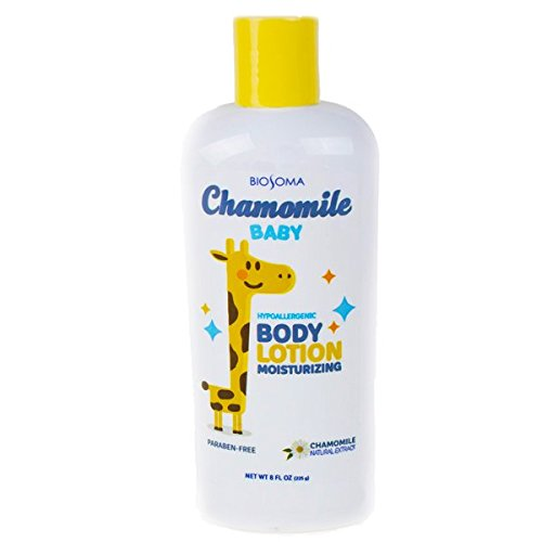 Biosoma Chamomile Baby Moisturizing Lotion. Hypoallergenic, Paraben Free, Natural Chamomile Extract. 8 oz Made in the - Moisturizing Baby Love