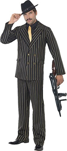 Gold Pinstripe Gangster Costume Chest 46