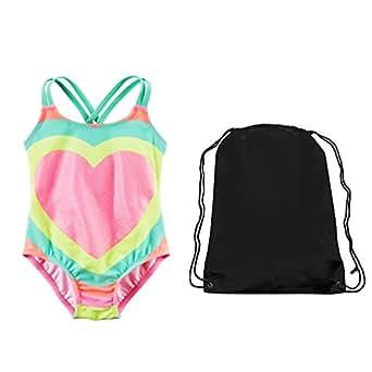 Amazon.com: Carter's Girls Glitter Rainbow Heart One Piece