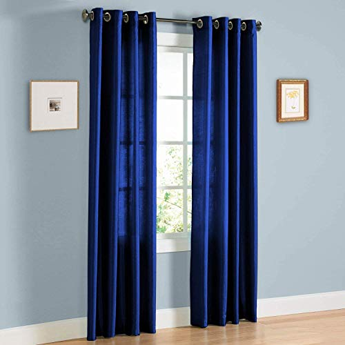 Sapphire Home 2 Panel Faux Silk Solid Curtain Drapes with Bronze Grommet (108