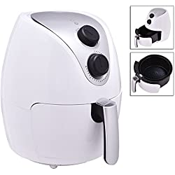 White Electric 1500W Air Fryer Cooker With Powerful Air Frying Technology And Detachable Basket Low Fat Healthy TSE068A2