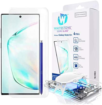Galaxy Note 10 Plus Screen Protector, [Dome Glass] Full three-D Curved Edge Tempered Glass Shield [Liquid Dispersion Tech] Easy Install Kit for Samsung Galaxy Note 10+ and Note 10 + 5G - One Pack