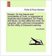 james beattie essays on poetry and music Here you will find list of essays on poetry and music as they affect the mind on laughter and ludicrous composition on the volume 2 is a book by james beattie on.