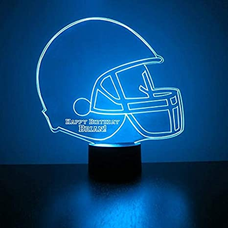 Mirror Magic Alabama Crimson Tide Light Up LED Lamp Football Helmet Night Light for Bedroom with Free Personalization Features Licensed Decal and Remote