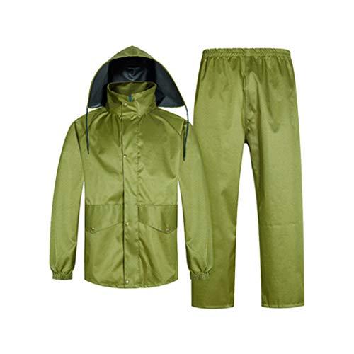 xxl à divisé vert trekking dimensions vert en une couleur Combinaison Jxjjd pièce adulte vert poncho et extérieur l'usure pour résistant imperméable qzHS1O