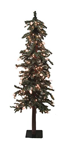 3.5' Pre-Lit Frosted Alpine Artificial Christmas Tree - Clear Lights