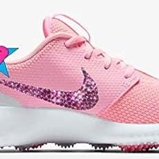 53e547139b Amazon.com: Rhinestone Crystal NIKE Pink Rainbow Gray GIRLS ...