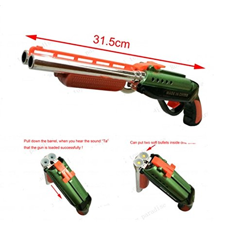 2016 new double barrels nerf gun Soft Bullet Gun Paintball Pistol Toy