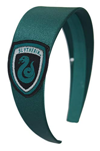 Harry Potter Headbands Women Girls Hogwarts Houses Ravenclaw Hufflepuff Gryffindor Slytherin (Slytherin) ()