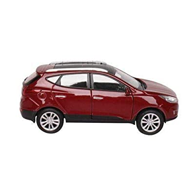[Hyundai Toys Collation] Mini Car 1:38 Scale Unique Miniature Diecast Model 1-pc For 2010 2011 2012 2013 Hyundai Tucson ix35 (Lamington Red): Automotive