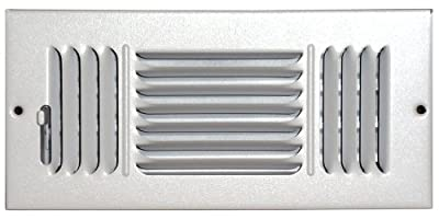 Speedi-Grille SG-48 CW3 4-Inch by 8-Inch White Ceiling/Sidewall Vent Register with 3 Way Deflection
