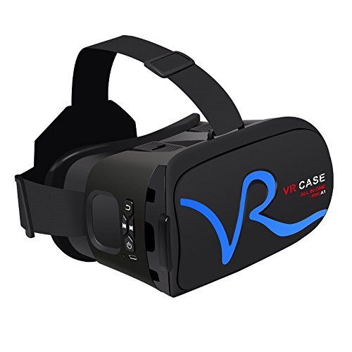 Cage Sents 3D VR Headset, 3D Virtual Reality with Optical Lenses for iPhone Samsung and 4.0-6.0 Inches Smart phones(blue) VR CASE RKA1