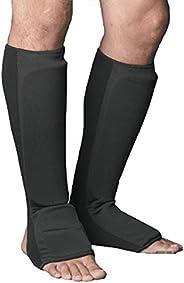 ProForce Combination Cloth Shin/Instep Guards - Black - Small,#84970