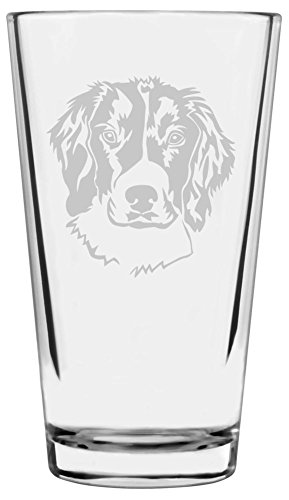 English Springer Spaniel Dog Themed Etched All Purpose 16oz Libbey Pint Glass