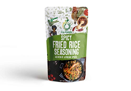 Iya Foods Spicy Fried Rice Seasoning 2 oz No Preservatives, No Added Color, No Additives, No MSG (Rice Fry Fried Stir)