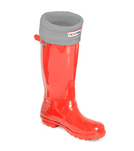 Boots UK Red 7 Wellington Tall Sizes Warm 3 9 Ladies Original Winter Rain Wellies Festival Grey 0O867nE