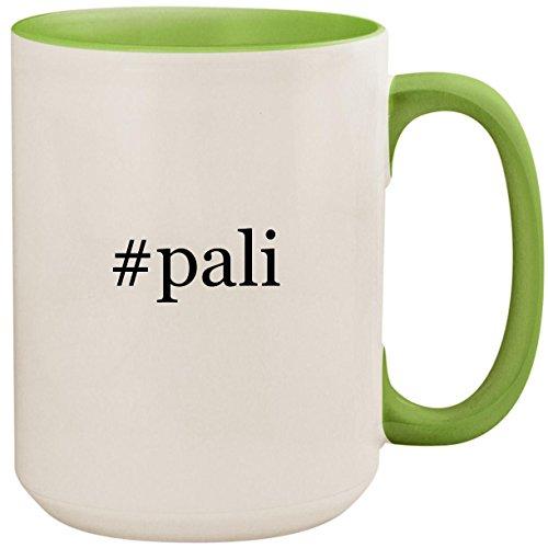 Treviso Three Light - #pali - 15oz Ceramic Colored Inside and Handle Coffee Mug Cup, Light Green