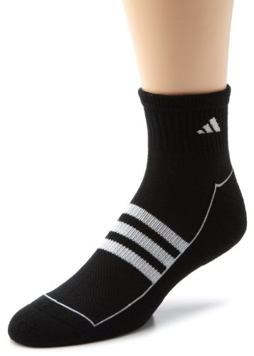 adidas Men's Climalite II 2-Pack QTR Sock, Shoe Size 6-12