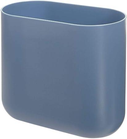 iDesign Cubo de basura para baño, papelera pequeña de plástico ...
