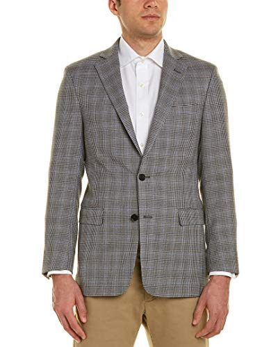 Brooks Brothers Wool Coat - Brooks Brothers Mens Regent Fit Wool Sport Coat, 44R, Grey