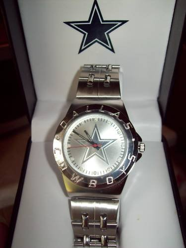 NFL Dallas Cowboys Embossed Logo Dial Watch by Game Time