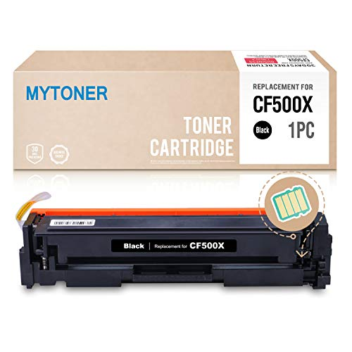 (MYTONER Compatible Toner Cartridge Replacement for HP 202X CF500X 202A (Black,1 Pack) for HP Color Laserjet Pro MFP M281fdw, M281cdw M254dw M280 M254 M281DW Series Printer)