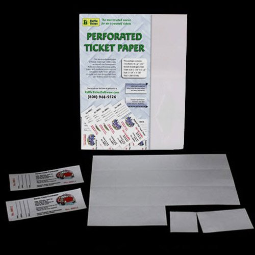 amazon com perforated ticket paper white 24lb bond printer and