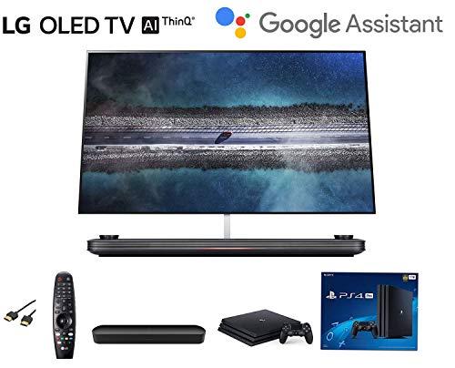 LG OLED65W9PUA Signature OLED TV W9-4K HDR Smart TV w/AI ThinQ Bundle w/Sonos Beam Soundbar w/ PS4 Pro 4K w/HDMI Cable