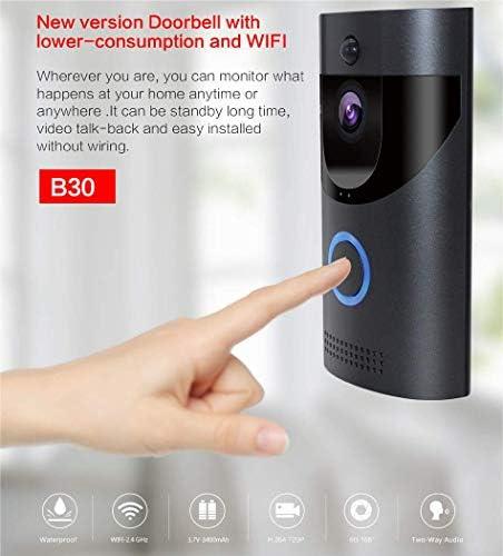 B30ワイヤレスドアベル、B30 IP65インテリジェントビデオドア720PワイヤレスインターホンサイレンナイトビジョンIPカメラ
