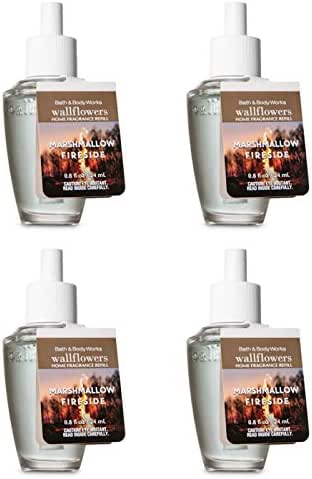 Bath and Body Works 4 Pack Marshmallow Fireside WallFlower Fragrance Refill 0.8 Oz