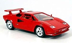 lamborghini countach 5000 qv in red 1 18 scale diecast model car toys games. Black Bedroom Furniture Sets. Home Design Ideas