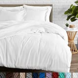Bare Home Duvet Cover and Sham Set - Full/Queen - Premium 1800 Ultra-Soft Brushed Microfiber - Hypoallergenic, Easy Care, Wrinkle Resistant (Full/Queen, White)