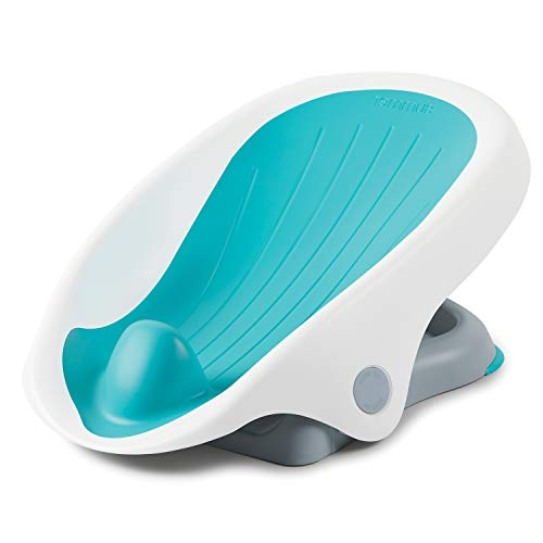 Summer Clean Rinse Baby Bather, Aqua - Bath Support for Use on The Counter, in Bath Tub or in Sink, Bather Has 3 Reclining Positions and Soft, Quick-Dry Material - from Birth Until Sitting Up