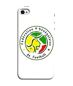 ColorKing Football Senegal 08 White shell case cover for Apple iphone 5 / 5s / SE