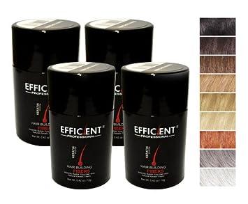 4 of Efficient Keratin Hair Building Fibers, Hair Loss Concealer Net Wt. 12gm 28gm 12gm, Light Brown