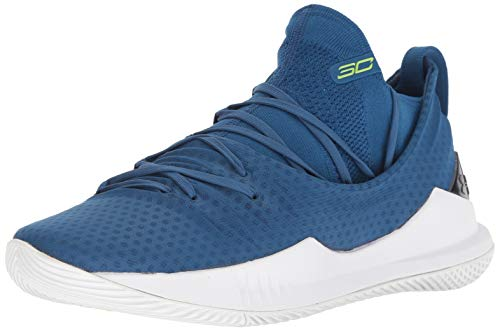 Under Armour Men's Curry 5 Basketball Shoe, Moroccan Blue (401)/White, ()
