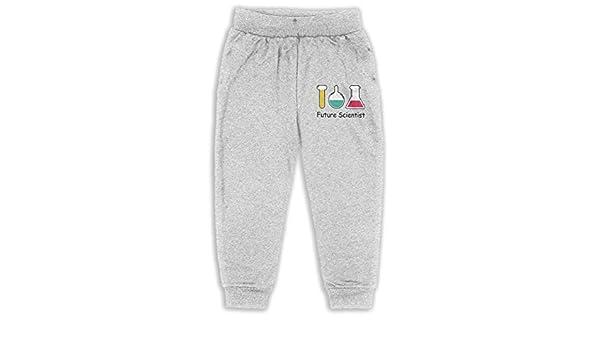 EASON-G Kids Joggers Future Scientist Fashion Sweatpants 2T 6T