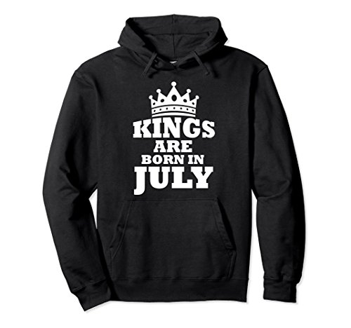 Unisex Perfect Kings Are Born In July Birthday Hoodie Small Black (Born Black Sweatshirt)