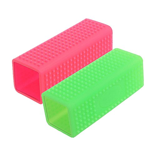 MoPets 2 Pack Effective Hollow Silicone Pet Dog Hair Remover Comb Cat Massage Grooming Tool Carpet Sofa Cleaner Brush