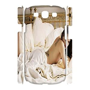 Qxhu Angelina Jolie Protective Snap On Hard Plastic Case for Samsung Galaxy S3 I9300 3D case