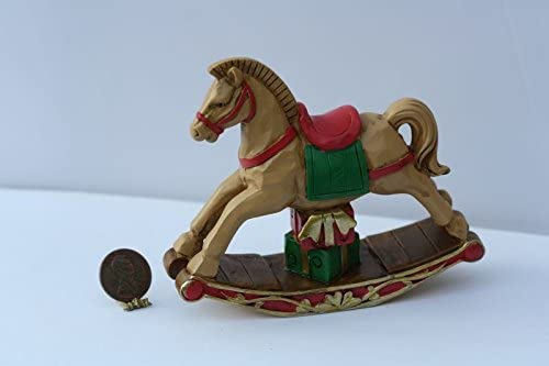 Dollhouse Miniature Wood Rocking Horse in White for Nursery CLA10930