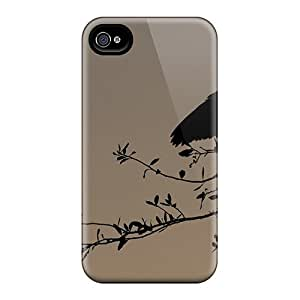 New Premium LauraKrasowski Bird Dusk Silhouette Skin Cases Covers Excellent Fitted For Iphone 6