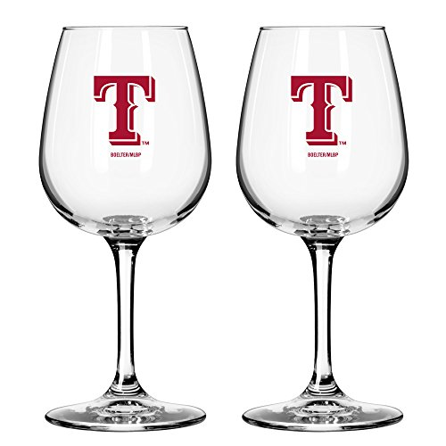 MLB Texas Rangers Game Day Wine Glass, 12-ounce, (Texas Rangers Glass)