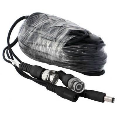 Zmodo Cable W-VP1018 60Feet AWG30 Premade Siamese CCTV Video