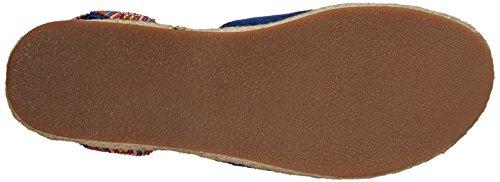 Sam Edelman Donna Shae Flat Sandal Navy Multi