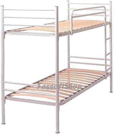 Litera para adultos y niños, ortopédica, blanca, con escalera y barandilla, divisible en dos camas individuales: Amazon.es: Hogar