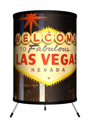 Lamp-In-A-Box TRI-TRV-LVSIG Travel Las Vegas Sign Tripod Lamp, 8'' x 8'' x 14'' by Lamp-In-A-Box
