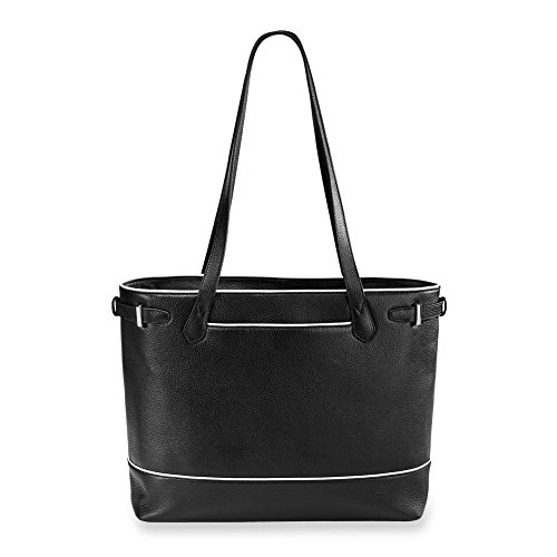 - Levenger AL15060 Polished and Sophisticated Leather Blair Business Tote, Classic Contrast